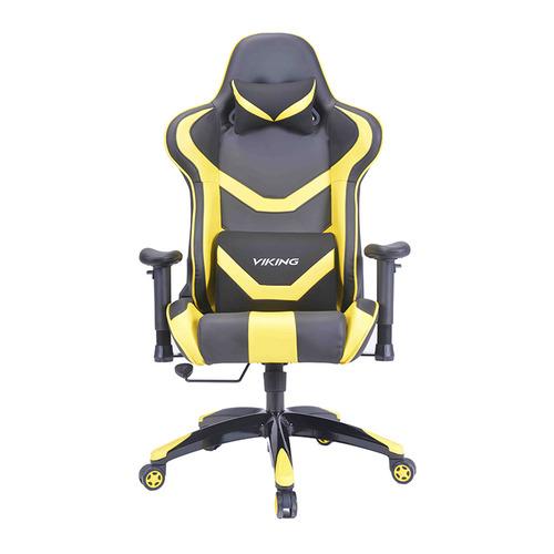 Кресло игровое БЮРОКРАТ CH-772N, на колесиках, искусственная кожа [ch-772n/bl+yellow] кресло игровое бюрократ ch 776 на колесиках искусственная кожа [ch 776 bl r]