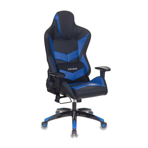 Кресло игровое БЮРОКРАТ CH-773N, на колесиках, искусственная кожа, черный/синий [ch-773n/bl+blue] ch 773n black