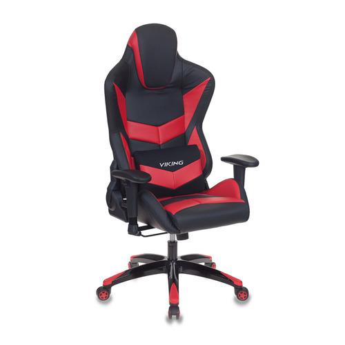 Кресло игровое БЮРОКРАТ CH-773N, на колесиках, искусственная кожа, черный/красный [ch-773n/bl+red] кресло игровое бюрократ ch 776 на колесиках искусственная кожа [ch 776 bl r]
