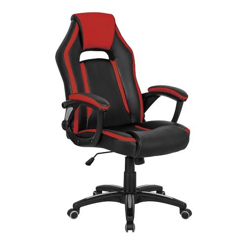 цена на Кресло игровое БЮРОКРАТ CH-829, на колесиках, искусственная кожа, черно-красный [ch-829/bl+red]