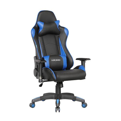Кресло игровое БЮРОКРАТ CH-778, на колесиках, искусственная кожа [ch-778/bl+blue] кресло бюрократ ch 605 на колесиках искусственная кожа черный [ch 605 black]