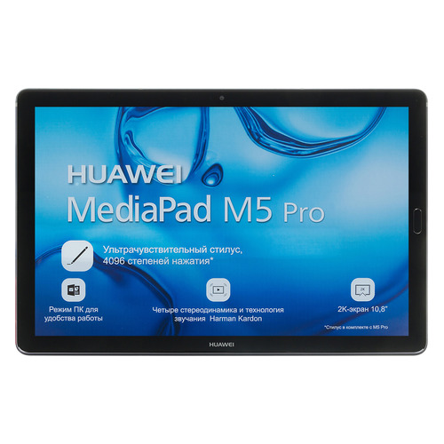 Планшет HUAWEI MediaPad M5 10.0 PRO, 4GB, 64GB, 3G, 4G, Android 8.0 серый [53010bln] teclast t10 10 1 inch android tablet pc 2560 x 1600 resolution mtk8176 4g 64g 13mp fingerprint recognition