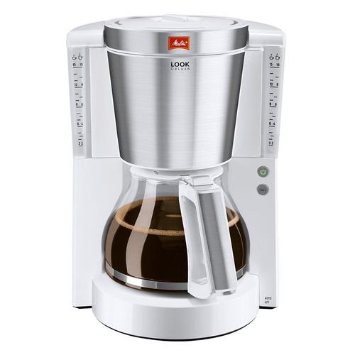 Кофеварка MELITTA Look IV de luxe, капельная, белый [6708023] цена и фото