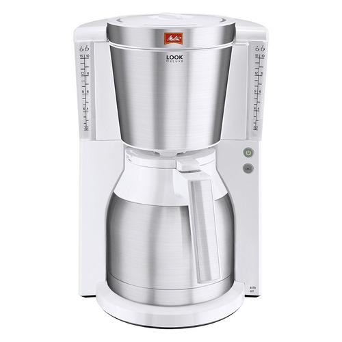 Кофеварка MELITTA Look IV Therm de luxe, капельная, белый [6738051] цена и фото