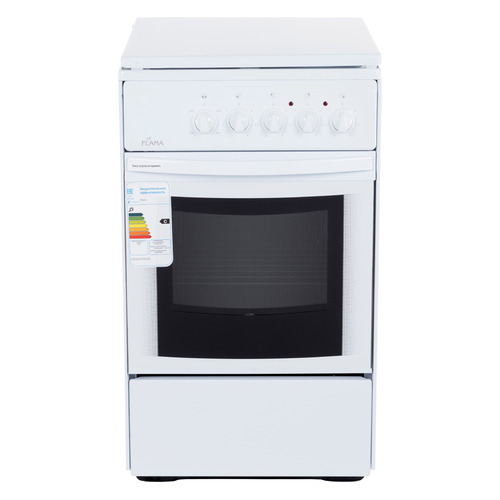 все цены на Электрическая плита FLAMA AE 1409 W, эмаль, эмалированная крышка, белый онлайн