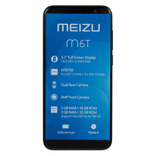 Смартфон MEIZU M6T 32Gb, черный смартфон meizu u10 32gb черный