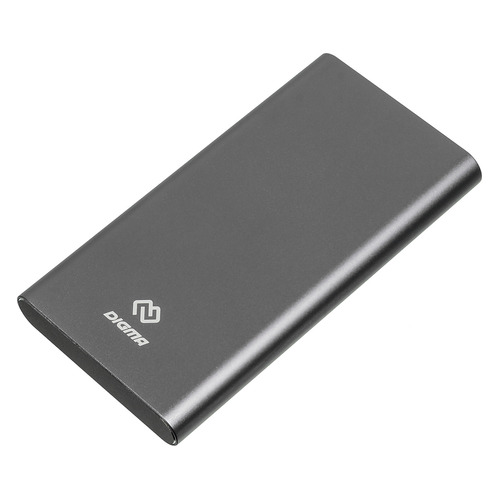 цена Внешний аккумулятор (Power Bank) DIGMA DG-ME-10000, 10000мAч, темно-серый онлайн в 2017 году