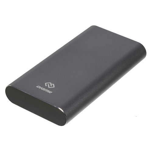 Фото - Внешний аккумулятор (Power Bank) DIGMA DG-ME-15000, 15000мAч, темно-серый аккумулятор digma dg me 10000 серый