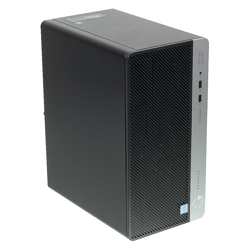 Компьютер HP ProDesk 400 G5, Intel Core i3 8100, DDR4 8Гб, 256Гб(SSD), Intel UHD Graphics 630, DVD-RW, Windows 10 Professional, черный [4nu29ea] рабочая станция hp z240 intel core i7 7700k ddr4 16гб 256гб ssd intel hd graphics 630 dvd rw cr windows 10 professional черный [y3y83ea]