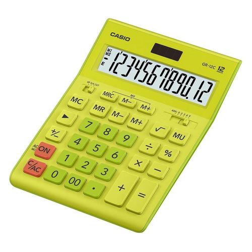 цена на Калькулятор CASIO GR-12C-GN, 12-разрядный, салатовый