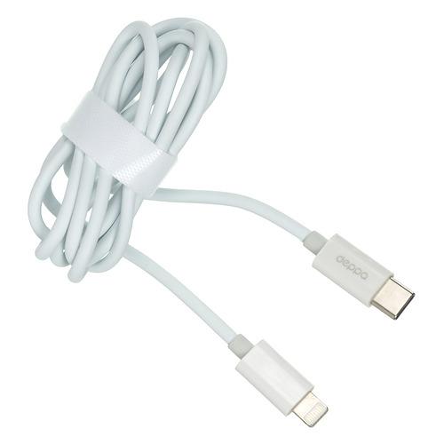 цена на Кабель DEPPA USB Type-C (m), Lightning (m), 1.2м, белый [72280]