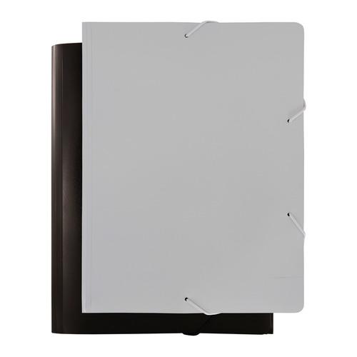 Папка на резинке Бюрократ Black&White BWPR05 A4 пластик кор.30мм 0.5мм ассорти 10 шт./кор. папка на резинке бюрократ crystal cr510 a4 пластик кор 30мм 0 5мм ассорти 60 шт кор