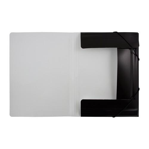 Папка на резинке Бюрократ Black&White BWPR05BLCK A4 пластик кор.30мм 0.5мм черный/белый 10 шт./кор. папка на резинке бюрократ crystal cr510 a4 пластик кор 30мм 0 5мм ассорти 60 шт кор