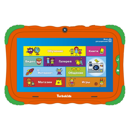 Детский планшет TURBO TurboKids S5 8Gb, Wi-Fi, Android 7.0, оранжевый [рт00020489]