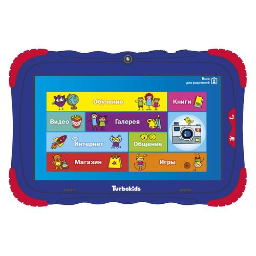 все цены на Детский планшет TURBO TurboKids S5 8Gb, Wi-Fi, Android 7.0, синий [рт00020490] онлайн