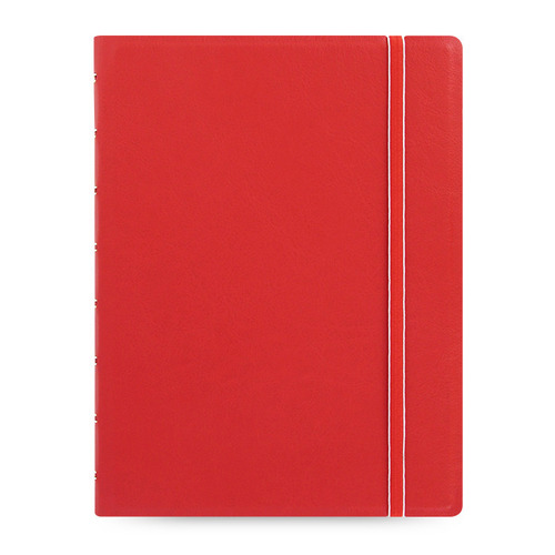 Тетрадь Filofax CLASSIC BRIGHT A5 PU 56л линейка съемные листы спираль двойная красный pu leather spiral loose leaf refillable travel journal zipper dokibook notebook filofax planner agenda notepad binder a6