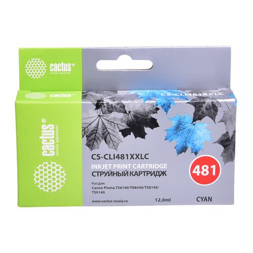Картридж CACTUS CS-CLI481XXLC, голубой CS-CLI481XXLC по цене 790