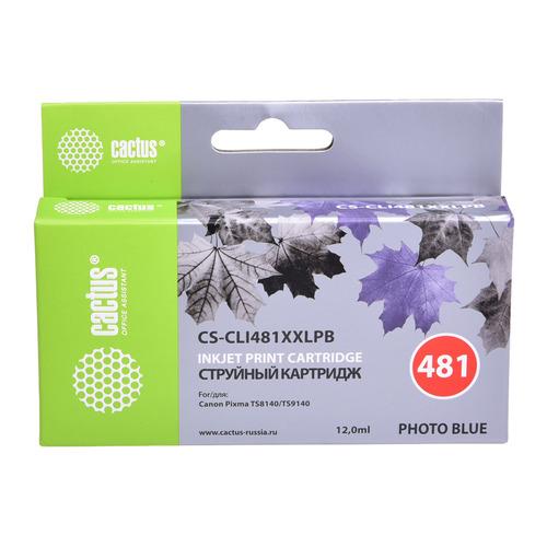 Картридж CACTUS CS-CLI481XXLPB, фото голубой картридж cactus cs cli471xlbk фото черный
