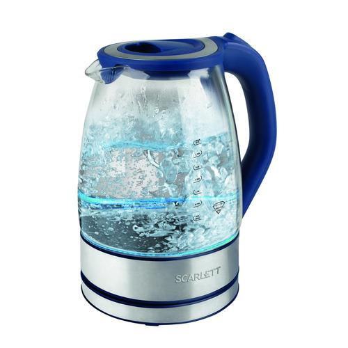 Чайник электрический SCARLETT SC-EK27G46, 2200Вт, синий цена и фото