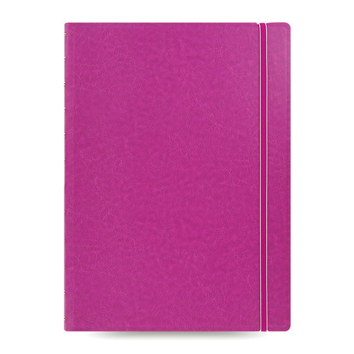 Тетрадь Filofax CLASSIC BRIGHT A4 PU 56л линейка съемные листы спираль двойная фуксия pu leather spiral loose leaf refillable travel journal zipper dokibook notebook filofax planner agenda notepad binder a6