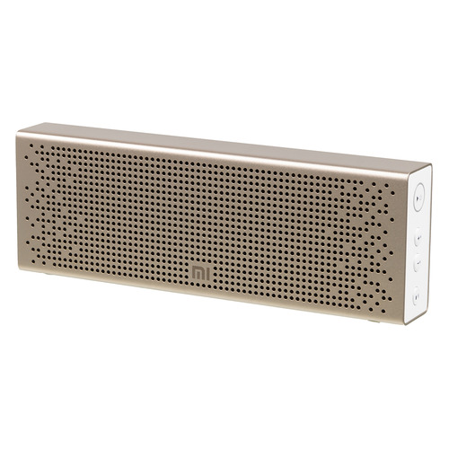Портативная колонка XIAOMI Mi Bluetooth Speaker, 6Вт, золотистый [qbh4104gl] bluetooth speaker jbl clip 2 portable speakers clamping waterproof speaker sport speaker