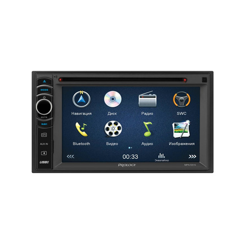 Автомагнитола PROLOGY MPN-D510, USB, microSD автомобильный dvd плеер lg 2 din mazda 5 dvd gps tv 3g wifi bt usb sd 8