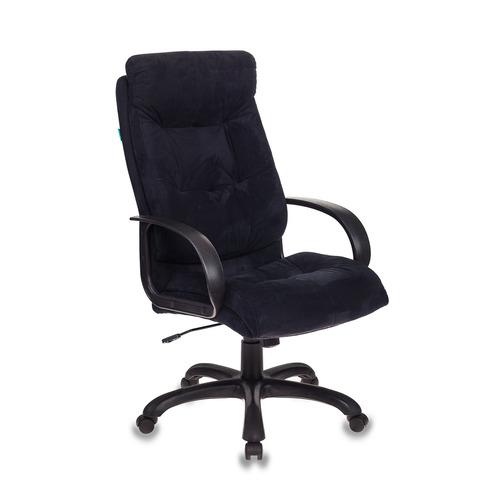 Кресло руководителя БЮРОКРАТ CH-824, на колесиках, микрофибра, черный [ch-824b/mf111-2]