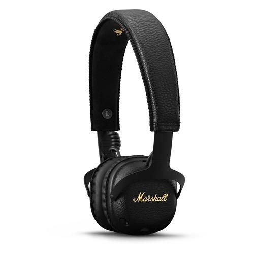 лучшая цена Наушники с микрофоном MARSHALL MID ANC, 3.5 мм/Bluetooth, накладные, черный [mrshlmidblknc04092138]