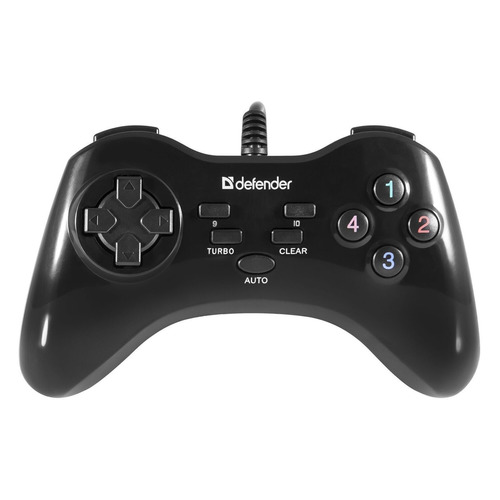 Геймпад проводной DEFENDER Game Master G2 черный [64258] цена 2017