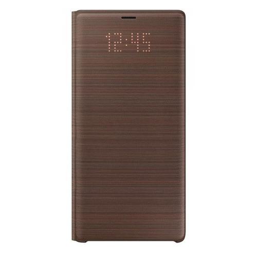 Чехол (флип-кейс) SAMSUNG LED View Cover, для Samsung Galaxy Note 9, коричневый [ef-nn960paegru] чехол для смартфона samsung для galaxy note 5 glocover золотистый ef qn920mfegru ef qn920mfegru