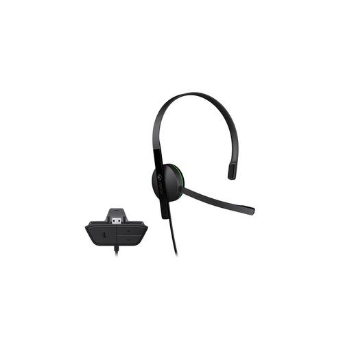 Проводная гарнитура MICROSOFT Chat Headset, для Xbox One, черный [s5v-00015] гарнитура