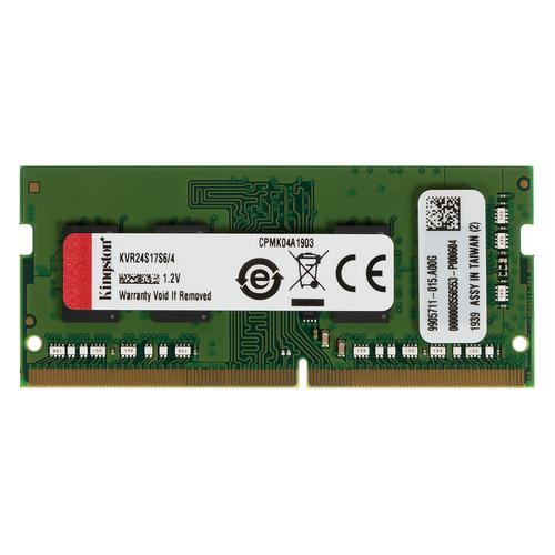 Модуль памяти KINGSTON VALUERAM KVR24S17S6/4 DDR4 - 4Гб 2400, SO-DIMM, Ret цена