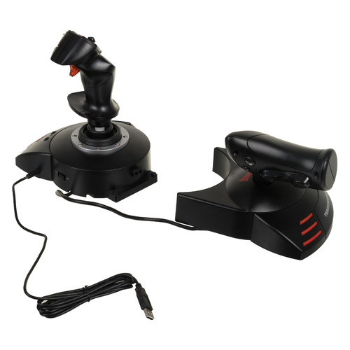 Джойстик проводной THRUSTMASTER T-Flight Hotas X черный [2960703] джойстик thrustmaster warthog flight stick pc 2960738
