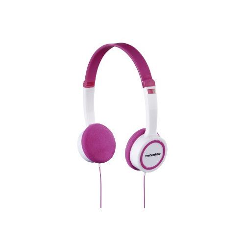 Наушники THOMSON HED1105P, 3.5 мм, накладные, розовый/белый [00132468] HED1105P по цене 990