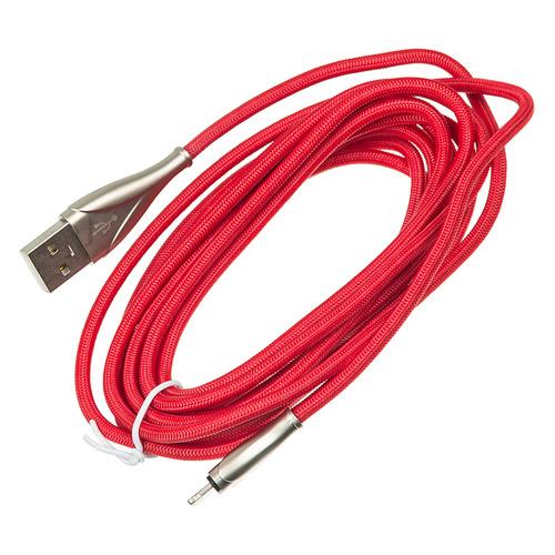 Кабель DIGMA USB A(m), Lightning (m), 3м, красный кабель для мобильных телефонов usb otg samsung galaxy tab 2 7 7 0 7 7 8 9 10 1 host cable