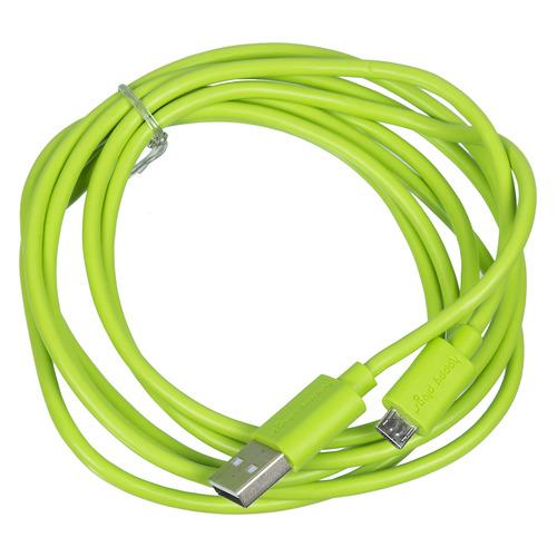 Кабель Happy plug, micro USB B (m), USB A(m), 2м, зеленый [00153246] зеленый с разъемом micro usb otg кабель адаптера andrews плоский кабель u телефон поддерживает huawei проса samsung meizu плоские черные линии 15см 10821