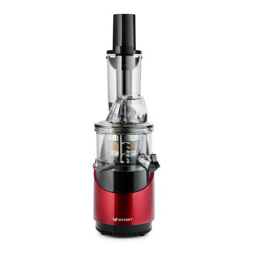 Соковыжималка KITFORT КТ-1105-1, шнековая, красный и черный соковыжималка kitfort кт 1106 2 шнековая серебристый и черный