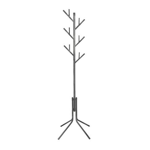Вешалка напольная Бюрократ CR-003/GRAY серый основание ножки крючки двойные