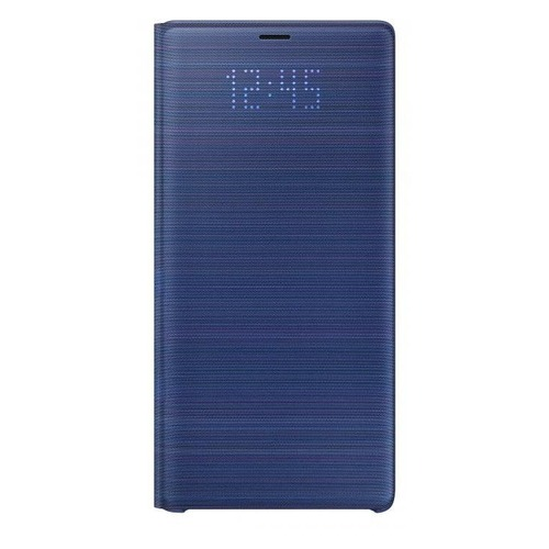 Чехол (флип-кейс) SAMSUNG LED View Cover, для Samsung Galaxy Note 9, синий [ef-nn960plegru]