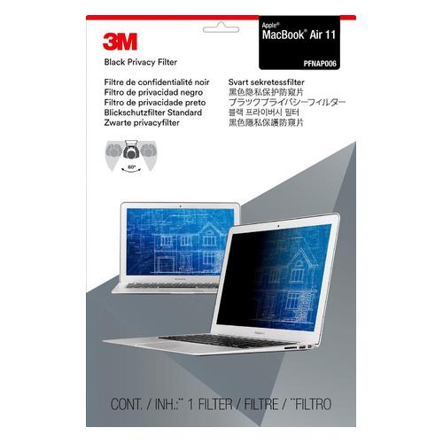 """Пленка защиты информации 3M PFNAP006 для ноутбука Apple MacBook Air 11 11.6"""", 16:9, черный [7100011159]"""