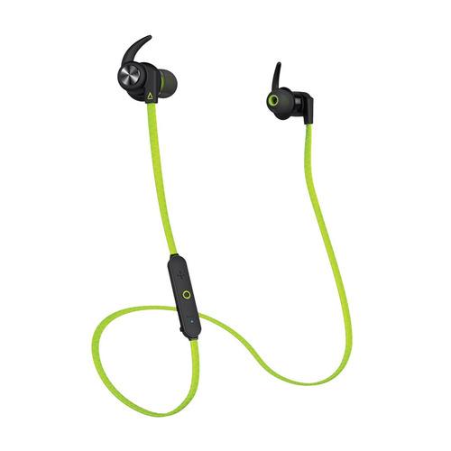 лучшая цена Наушники с микрофоном CREATIVE Outlier Sports, Bluetooth, вкладыши, зеленый [51ef0730aa001]