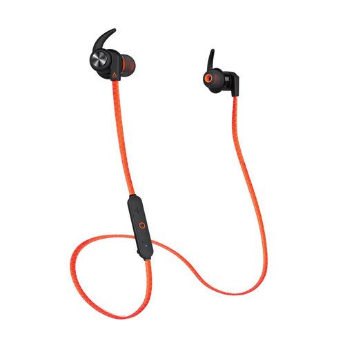 Наушники с микрофоном CREATIVE Outlier Sports, Bluetooth, вкладыши, оранжевый [51ef0730aa002] беспроводные наушники creative outlier one plus black