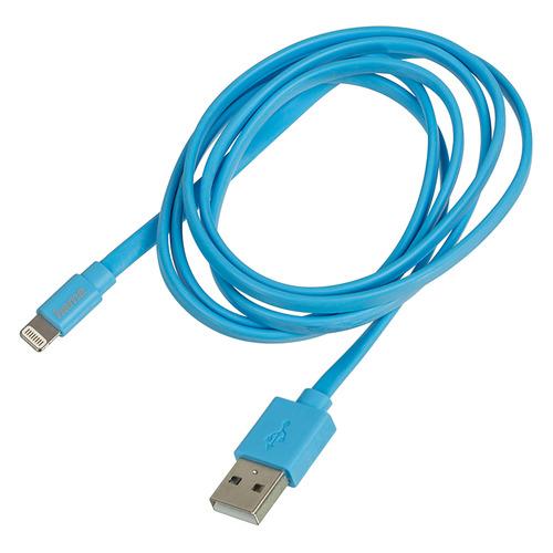 Кабель HAMA Flat, Lightning (m), USB A(m), 1.2м, MFI, синий [00173646] кабель hama lightning usb 2 0 m 1 5м mfi фиолетовый [00187202]