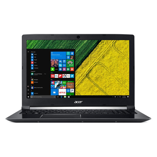 Ноутбук ACER Aspire A715-72G-77C6, 15.6, Intel Core i7 8750H 2.2ГГц, 8Гб, 1000Гб, nVidia GeForce GTX 1050 Ti - 4096 Мб, Windows 10, NH.GXCER.005, черный ti 1000
