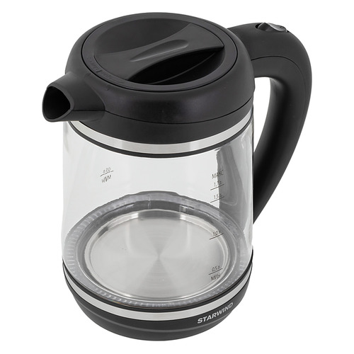 Фото - Чайник электрический STARWIND SKG6760, 2200Вт, черный чайник электрический starwind skg2213 2200вт зеленый и черный