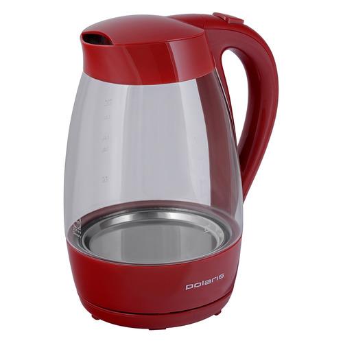 Чайник электрический POLARIS PWK 1706CG, 2200Вт, красный чайник электрический polaris pwk 1763ca