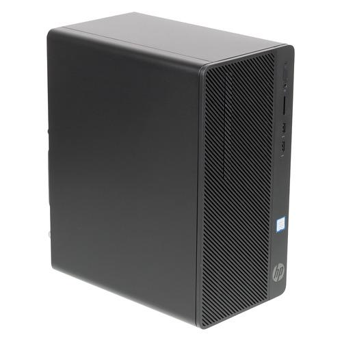 Компьютер HP 290 G2, Intel Core i3 8100, DDR4 4ГБ, 1000ГБ, Intel UHD Graphics 630, DVD-RW, CR, Windows 10 Professional, черный [4vf84ea]