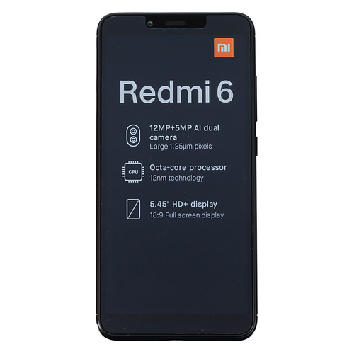 Смартфон XIAOMI Redmi 6 32Gb, черный