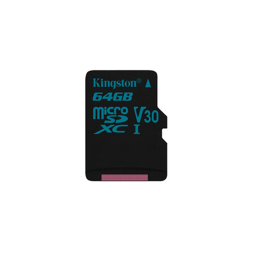 Карта памяти microSDXC UHS-I U3 KINGSTON Canvas Go 64 ГБ, 90 МБ/с, Class 10, SDCG2/64GBSP, 1 шт. карта памяти transflash 64гб microsdxc class 10 uhs i u3 90r 45w kingston canvas go