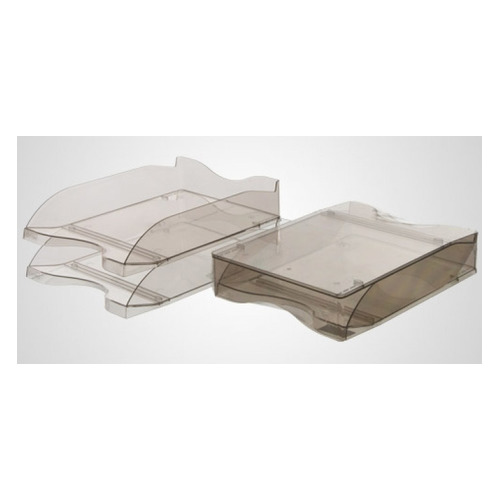 Набор лотков горизонтальный СТАММ Люкс ЛТ607, 265x355x75, пластик, коричневый / тонированный ЛТ607 по цене 250